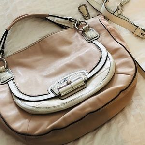"Coach summer bag in putty, off white, ""snakeskin"""